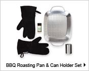 BBQ Roasting Pan & Can Holder Set