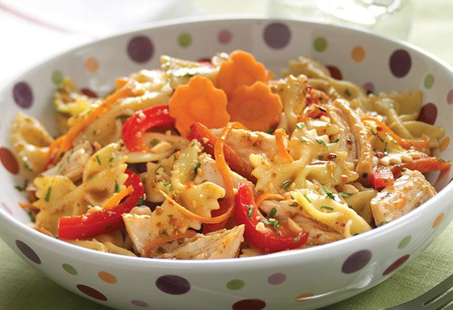 Satay Chicken Pasta Salad