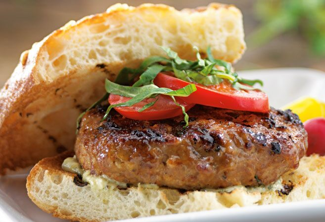 Tuscan Turkey Burgers