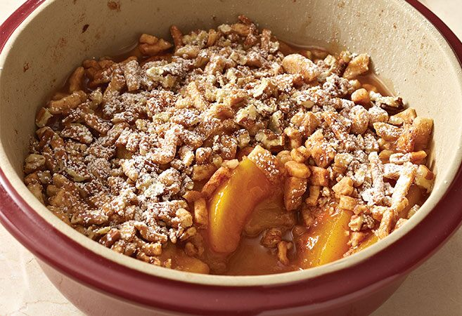 Microwave Deep Dish Peach Pie