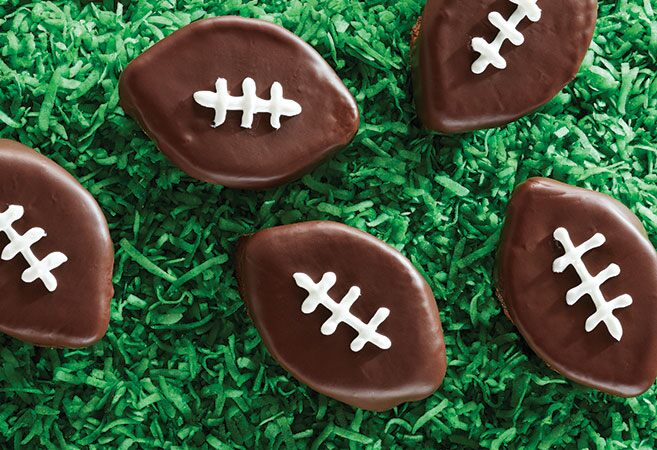Double Chocolate Browie Footballs