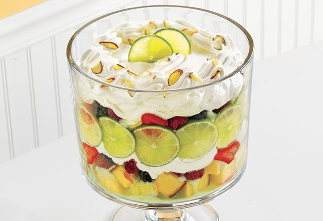 Lime–Berry Mousse Trifle
