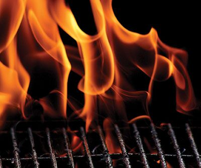 Fire on a Grill
