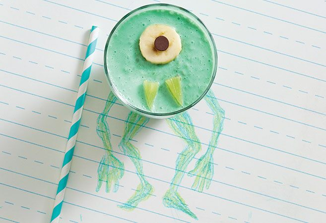 Monster Green Fruit Smoothie