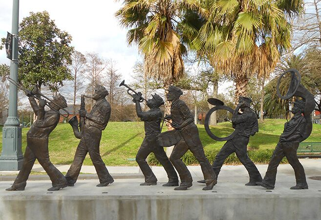 New Orleans Jazz Musicians Sculpture
