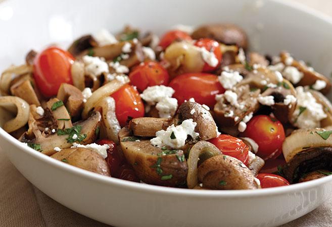 Grilled Mushroom & Onion Basket
