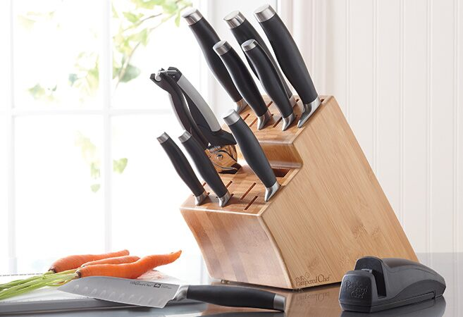 Cutlery Bamboo Knife Block Set