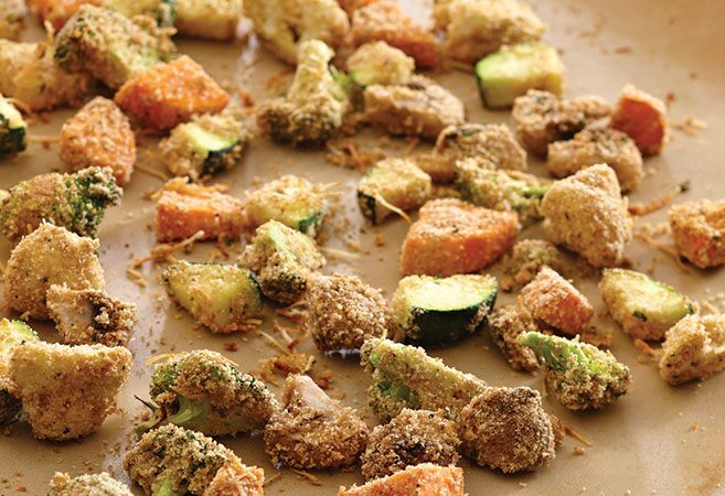 Crispy Oven Fried Vegetables