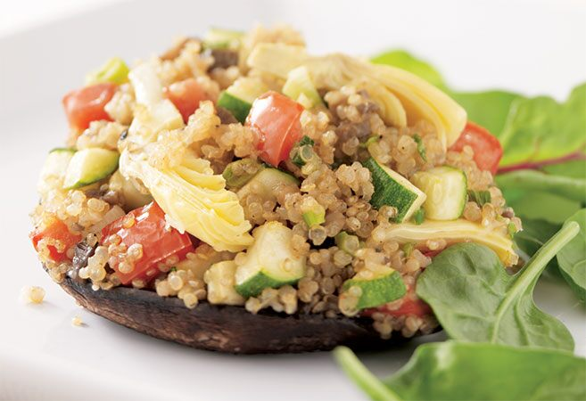 Quinoa-Stuffed Portobello Mushrooms