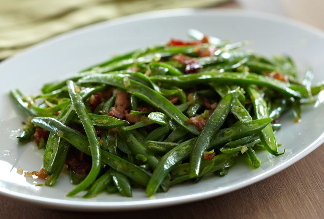 Sautéed Green Beans with Bacon