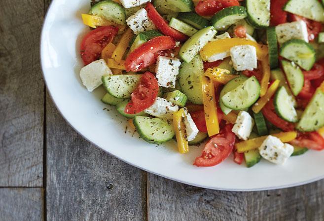 Fresh Tomato, Cucumber & Feta Salad