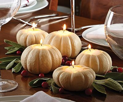 pumpkin candle centerpieces