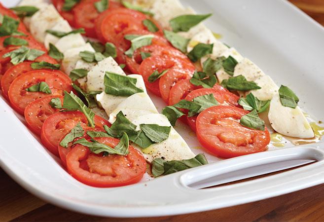 Tomato, Mozzarella, and Basil Salad