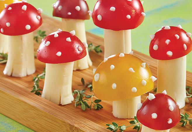 Mozzarella & Tomato Mushrooms