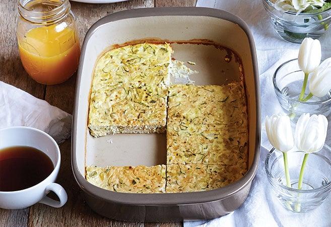 Artichoke Zucchini Frittata