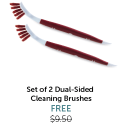 Set of 2 Dual-Sided Cleaning Brushes