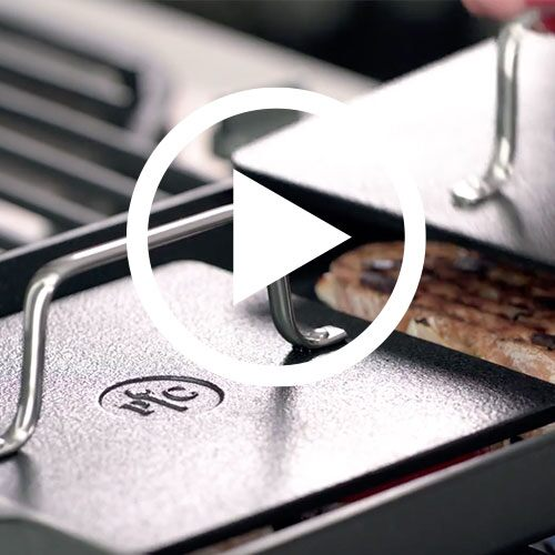 Play Nonstick Double Burner Grill & Press Set Video
