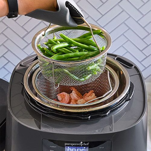Quick Cooker Steamer Basket Set