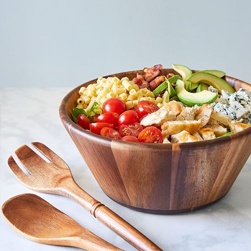 Wood Salad Bowl Servers Set Shop Pampered Chef Us Site