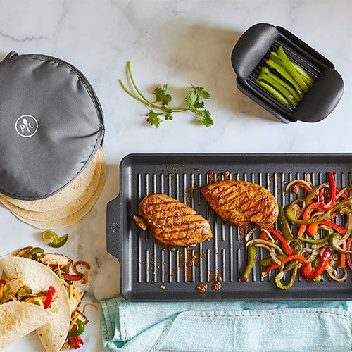 Nonstick Double Burner Grill Meal Set