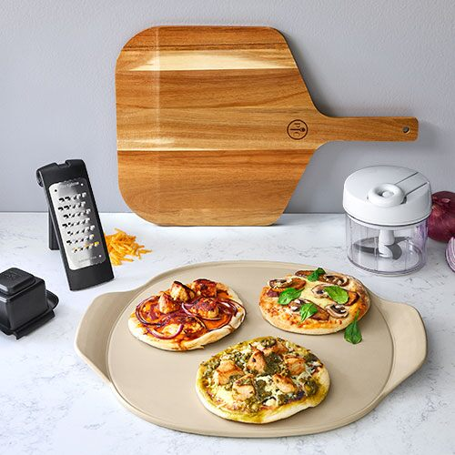 *Pizza Stone Meal Set