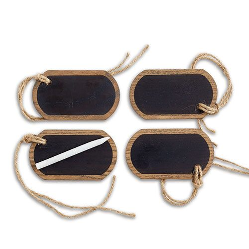 Ash Wood & Chalkboard Tags