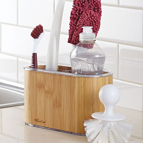 Bamboo Sink Caddy Shop Pampered Chef Us Site