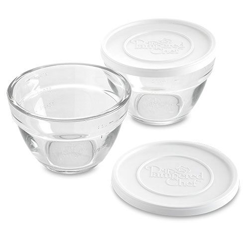 pampered chef glass measuring bowl