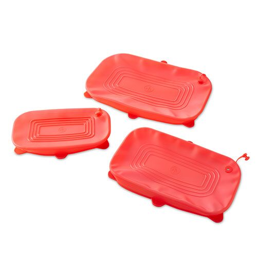 Rectangular Stretch-Fit Silicone Lid Set