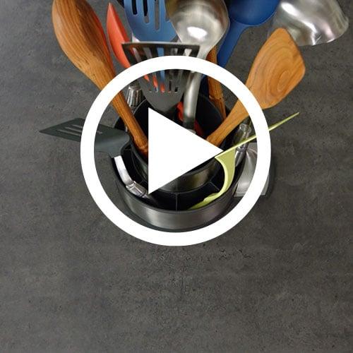 Stainless Steel Rotating Utensil Holder Shop Pampered