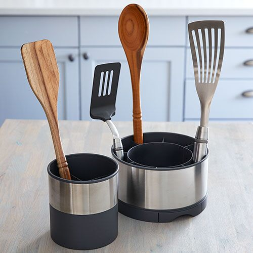 Stainless Steel Rotating Utensil Holder - Shop | Pampered ...