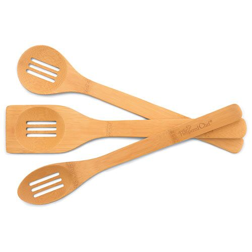 Bamboo Slotted Spoon Set