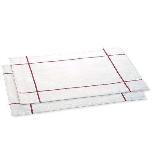 White Windowpane Placemat Set(Set of 2)