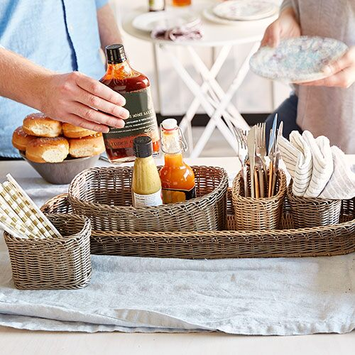 Wicker Serving Caddy - Shop | Pampered Chef US Site