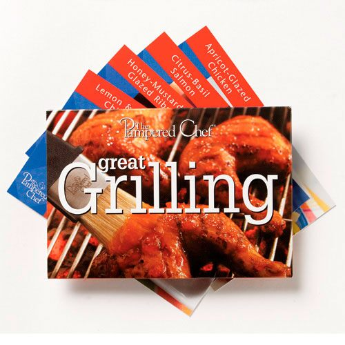 The Pampered Chef 174 Grilling Recipe Card Collection
