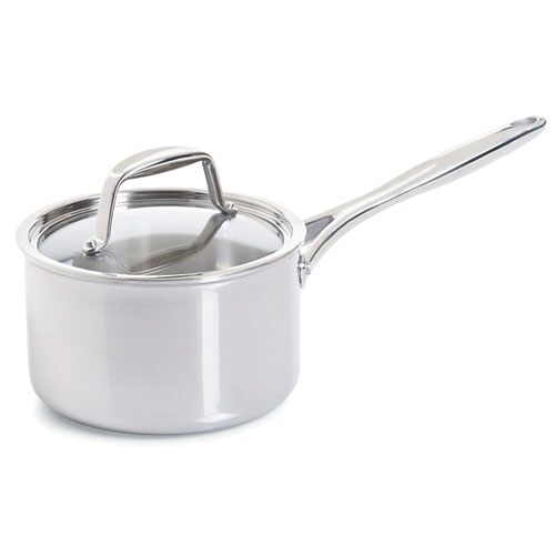 Stainless Steel 3-qt. Covered Saucepan