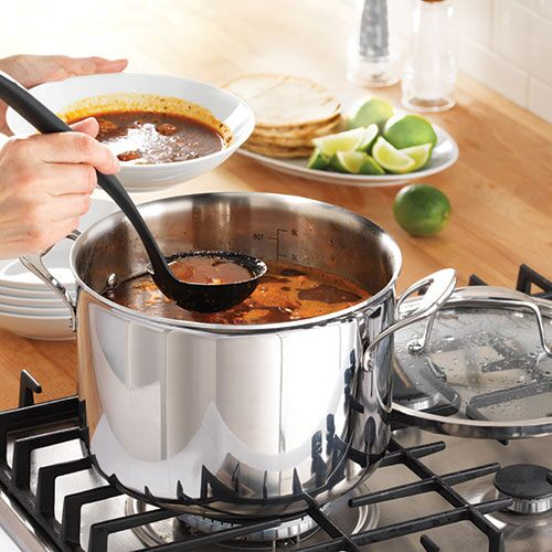 Stainless Steel 8-qt.(7.6L) Covered Stockpot