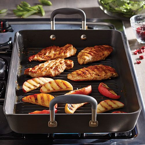 Executive Nonstick Double Burner Grill Shop Pampered Chef US Site