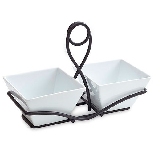 Small Square Bowls & Caddy Set