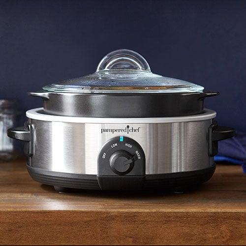 3116 lg rockcrok® 2 5 qt slow cooker set shop pampered chef us site