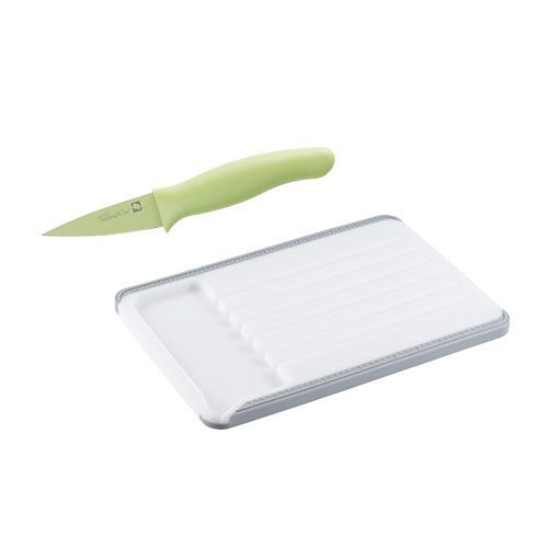 Med. Cutting Board & Coated paring Knife