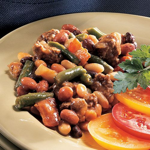 send to a friend calico bean bake a colorful medley of beans adds ...