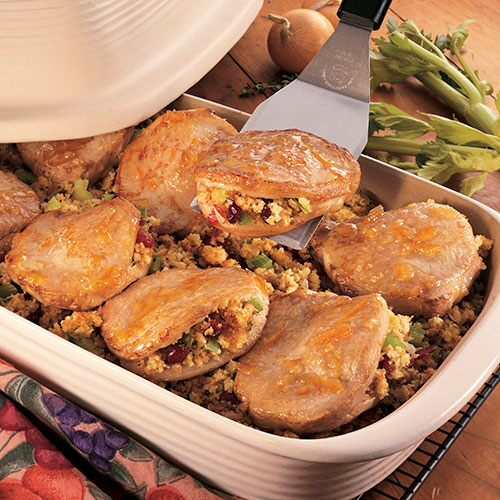 Pork Chops With Harvest Stuffing