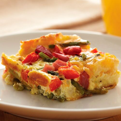 Fresh Vegetable & Ham Strata