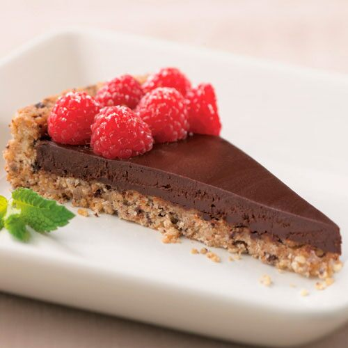 Chocolate-Raspberry Macadamia Tart - Recipes | Pampered Chef US Site