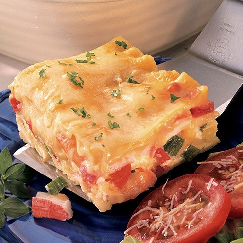 seafood lasagna this colorful seafood and vegetable lasagna takes time ...