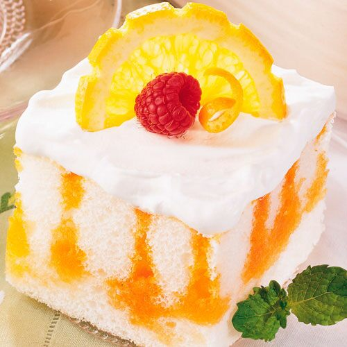 Citrus Striped Angel Cake