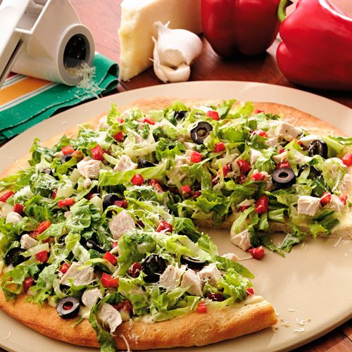 Chicken Caesar Salad Pizza Recipes Pampered Chef Us Site