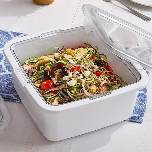 Greek Cucumber Noodle Salad