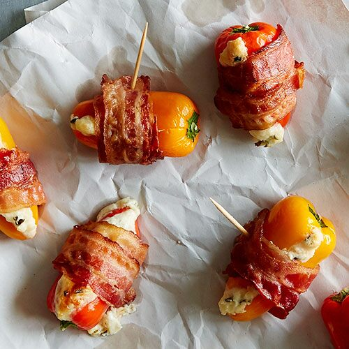 Bacon-Wrapped Stuffed Pepper Poppers